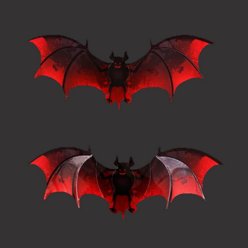 3D Bats Wall Stickers Reusable Self-Adhesive Wall Art Decals For Halloween Party Home Decor in stock