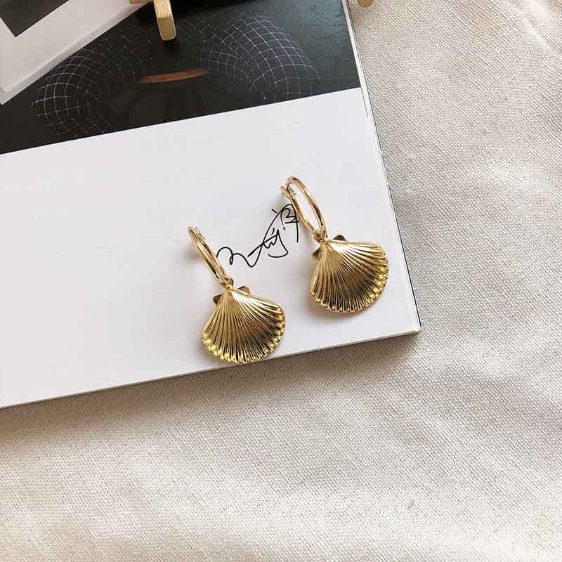 Sale Gold Color Sea Shell Starfish Dangle Earrings For Women Alloy High Quality Bohemian Conch Summer Beach Earrings