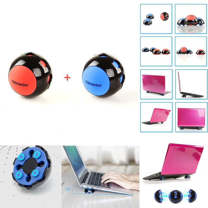 Laptop Stand Cooler Ball Anti-Slip Silicone Pad Heat Dissipation Skidproof Portable for Macbook Notebook