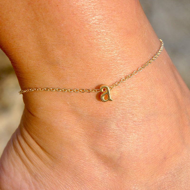 Personalized Initial Letter Anklet For Women  Foot Chain Stainless Steel Anklet Custom Jewelry Accessories Birthday Gift