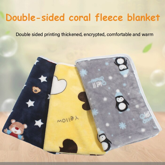 Pet Dog Bed Mat Winter Warm Blanket Soft Double-sided Coral Fleece Washable Sleeping Pad for Dogs Mattress Household Pet Product
