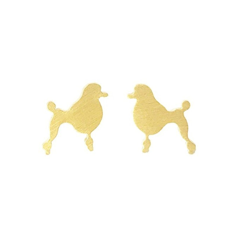 Vintage French Cartoon Poodle Dog Earrings For Women Girls Teens Animal Pet boucle d'oreille femme 2019 Best Friend Gifts