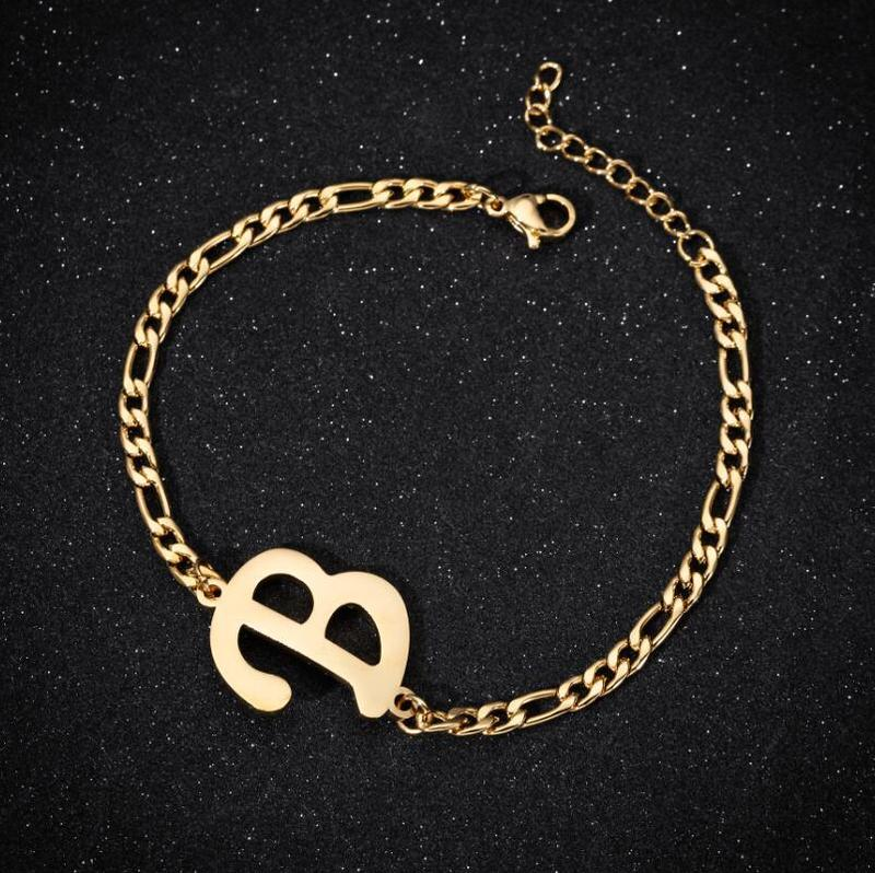 Initial Anklets Bracelet for Women Stainless Steel Letter Leg Chain Gold Men Ankle Bracelet A-Z Alphabet Anklet Christmas Gifts