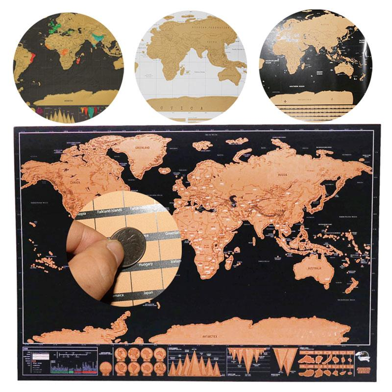 Scratch Map World Travel Map Erasable Creative Home Decoration Wall Stickers Colorful Decorative Map Mini - EtsySales