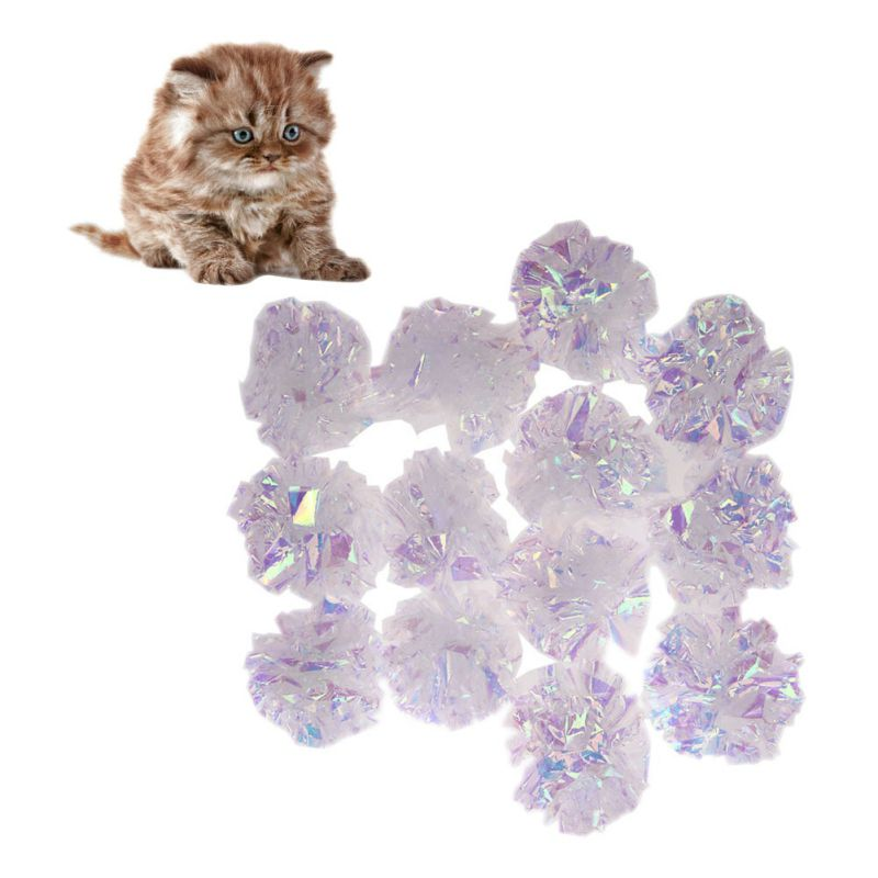 Cat Toys Mylar Crinkle Ball Cat Toy Interactive Sound Ring Paper Kitten Playing Balls Pet Cat Products