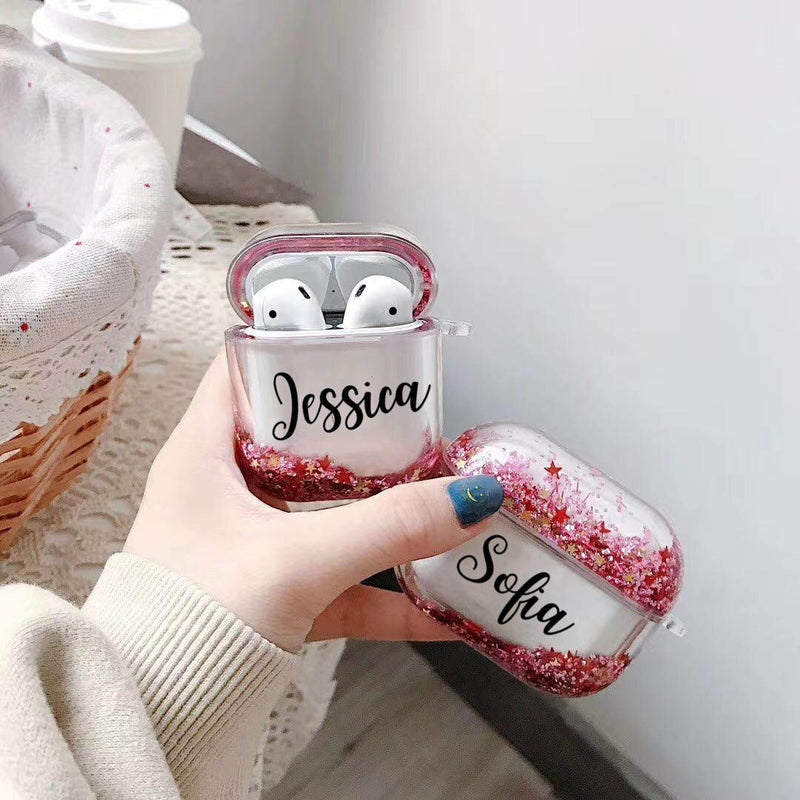 Airpods Pro Case Customized Name Personalized Airpods Pro Glitter Case - Headphones