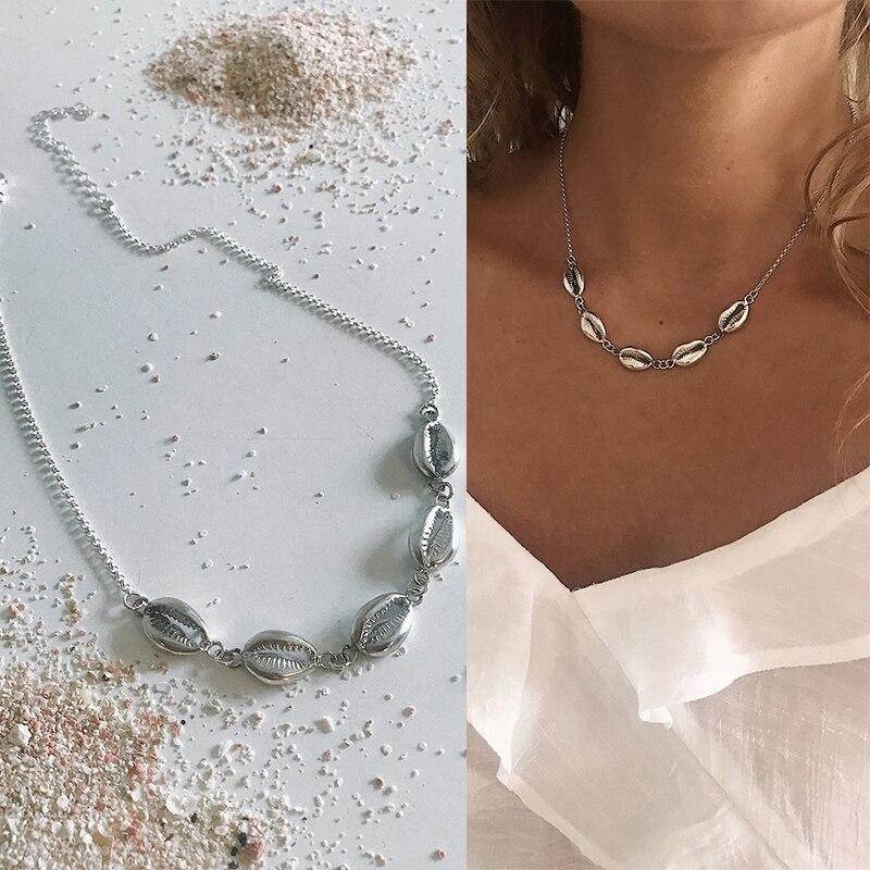 Alloy Bohemian Jewelry Shell Chocker Hawaiian New Summer Necklace Simple Seashell Beach Beach Fashion Women - Pendants