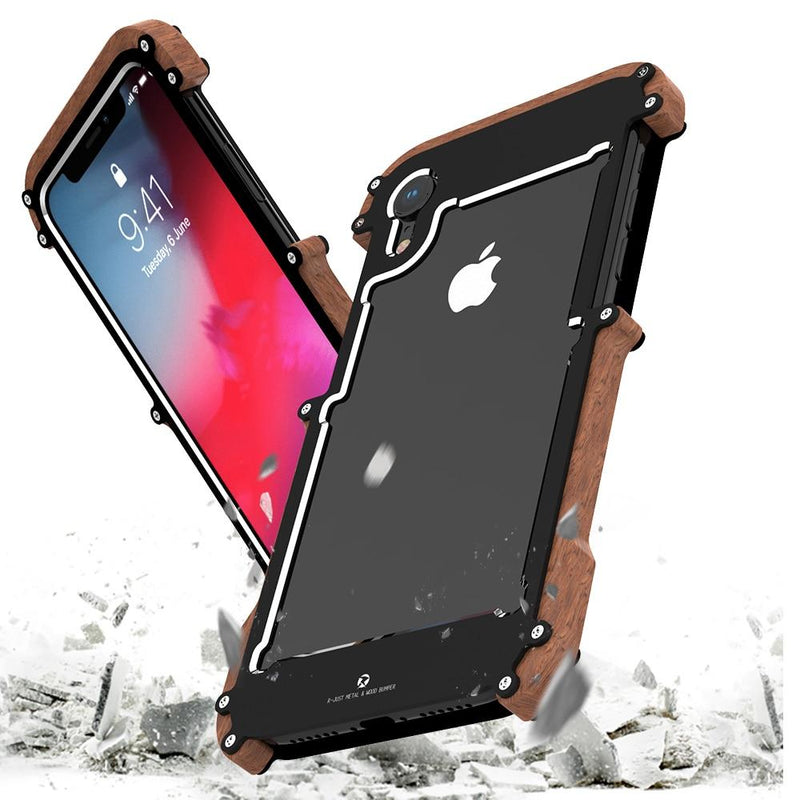 Aluminum Screws Phone Case for iPhone XR/ XS/ 11 Pro Max /7 /8 Plus /SE Shockproof Armor Cover - Phone Cases