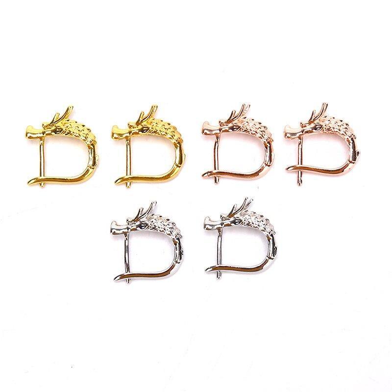 Animal Dragon Viking Stud Earrings Gold Silver Color Korean Men Women Studs Earring For Male Female Party Jewelry Gift - Dangle & Drop Earrings