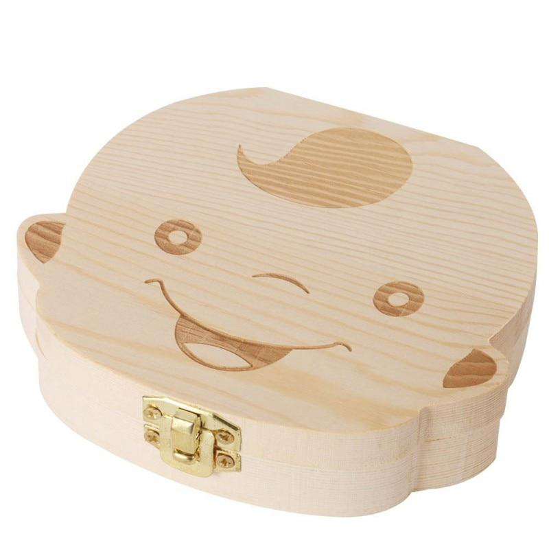 Baby milk box baby wooden tooth box baby tooth storage box child baby tooth storage collection wooden box - Teething