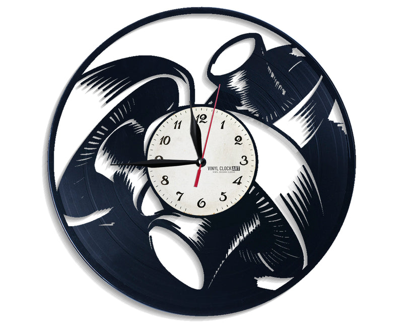 Vinyl Eating wall clock to impress your identity