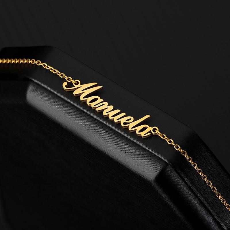 Crown Name Anklet For Women Men Fashion Customized Stainless Steel Enkelbandje Rose Gold Color Nameplate Ankle Bracelet - Anklets