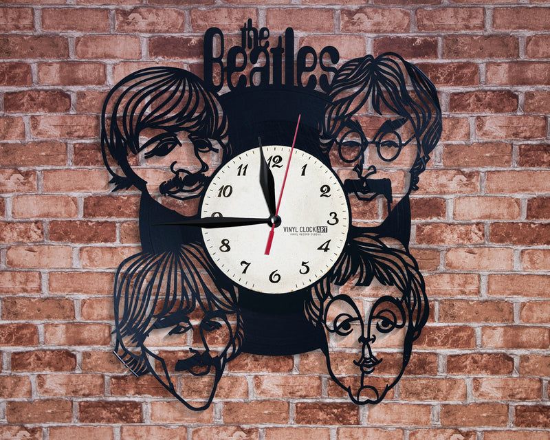 Beatles wall clock is cool as a birthday gift