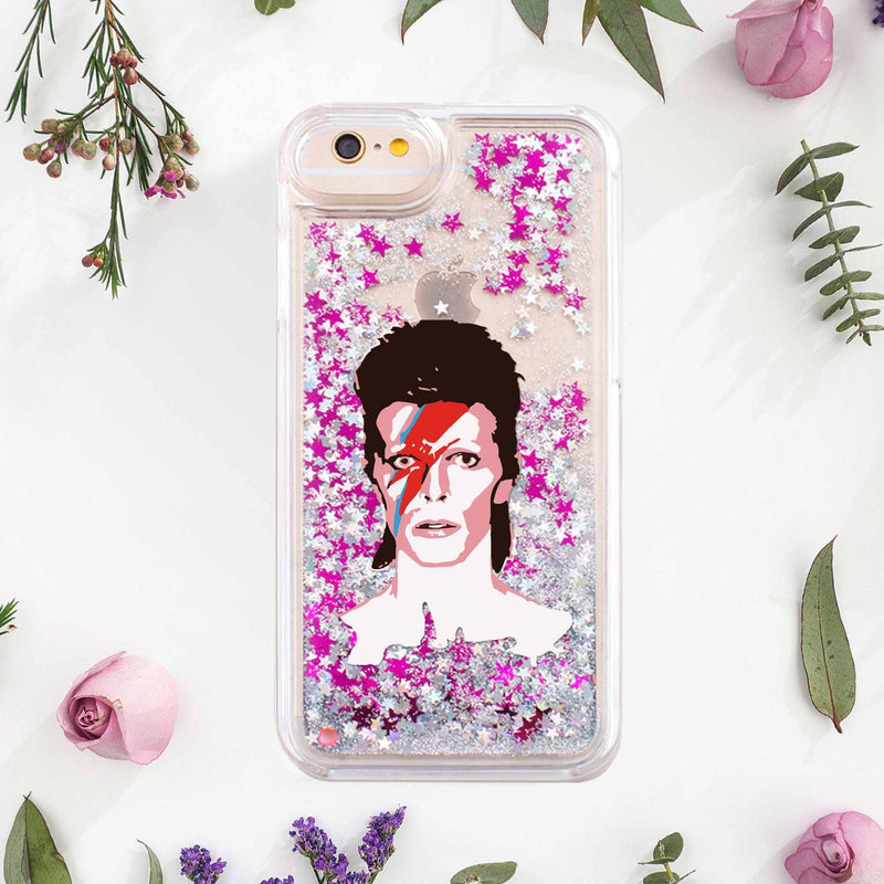 David Bowie iPhone 6s Case Glitter Case iPhone 7 Phone Case iPhone 7 Plus Case iPhone 8 Case iPhone 6S Plus Case Phone iPhone X Case CA1210 - Phone Cases