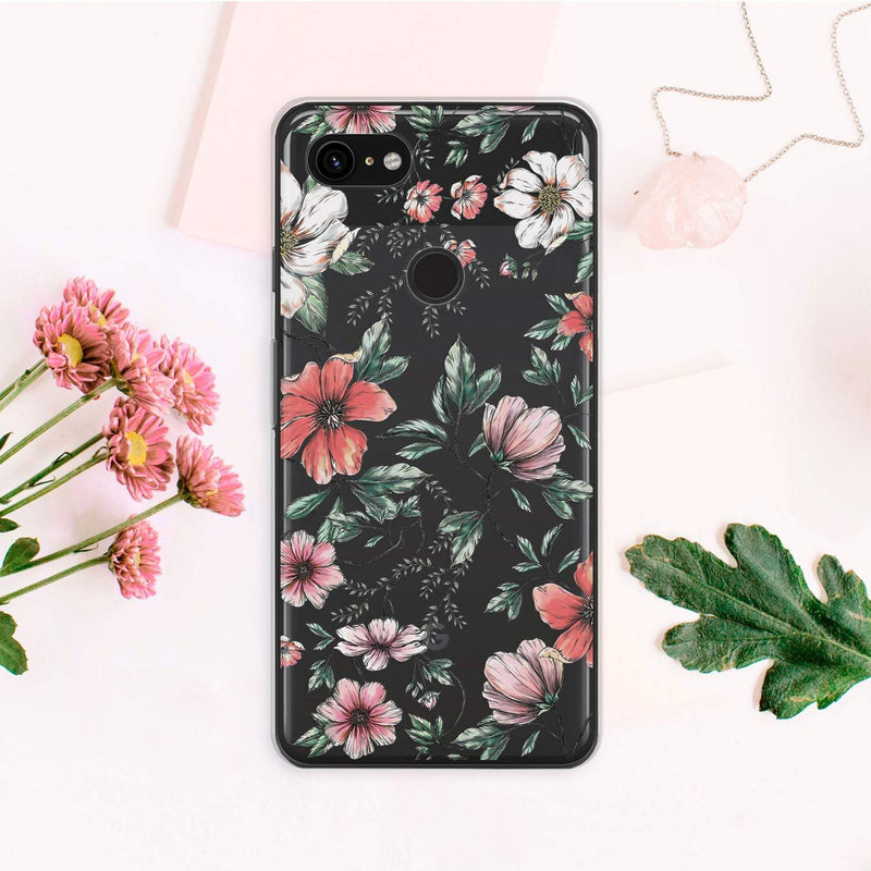Exotic Flowers iPhone XS Max Case Floral iPhone 8 Cover Tropic Floral iPhone 7 Wildflowers iPhone XR Case Samsung S10 Google Pixel 3 CA2316 - Phone Cases