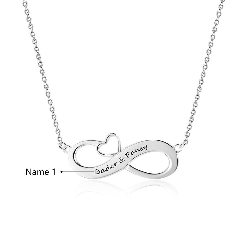Fashion Personalized Necklaces 925 Sterling Silver Infinity Pendant Custom Name Eternity Love Jewelry Wedding Gift for Women - Monogram & Name Necklacescelet