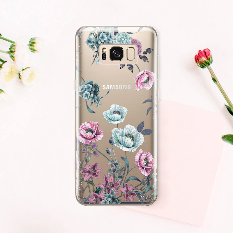 Floral Phone Case Samsung Galaxy Note 8 Galaxy S6 Case S10E Samsung Galaxy S8 Case Galaxy S7 Edge Case Samsung Galaxy S9 Plus Case CA1013 - Phone Cases