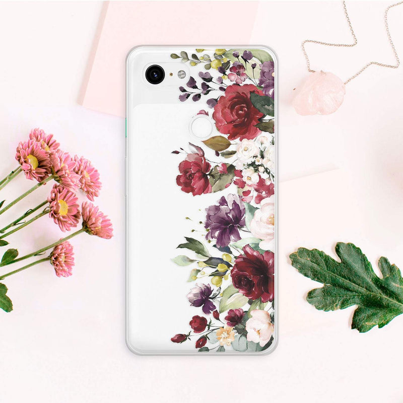 Flowers iPhone XR Case Roses iPhone 8 Plus Floral Case iPhone XS Case Clear iPhone 6S Case Tough Samsung S9 Cover Google Pixel Case CA2246 - Phone Cases