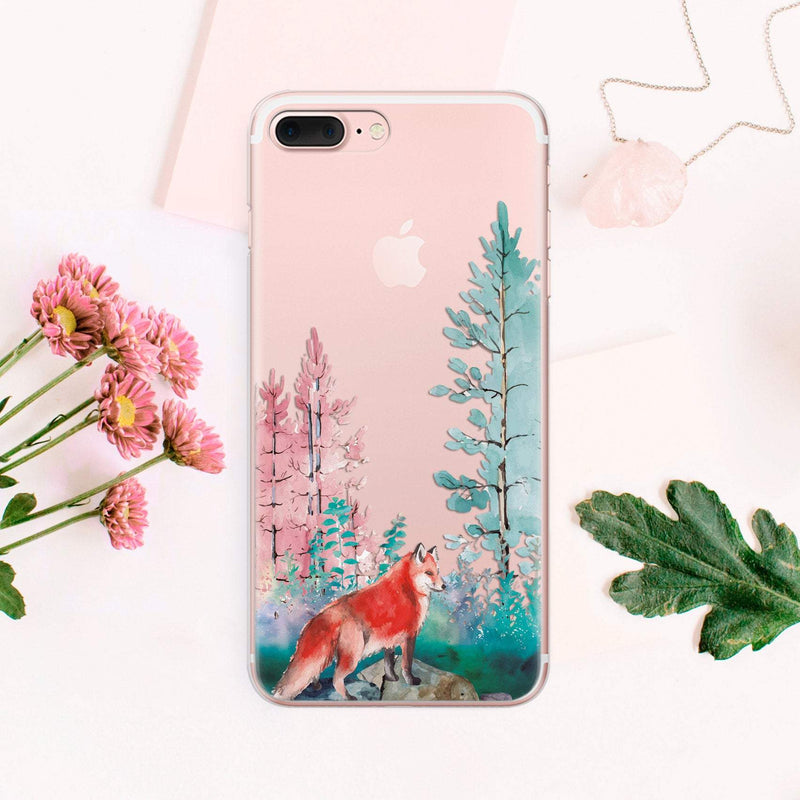 Fox iPhone 8 Plus cover iPhone 7 Plus Case iPhone XS iPhone 8 Case iPhone XR Cover iPhone 7 TPU Case iPhone 8 Phone Case CA1017 - Phone Cases