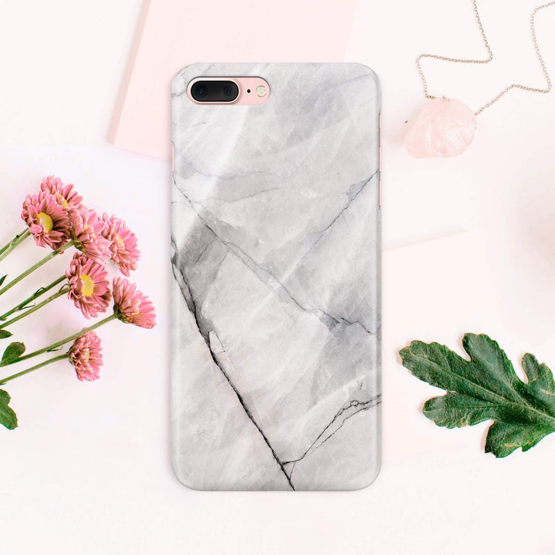 Full Wrap White Black Marble Samsung Galaxy S8 Case Samsung S6 Edge Plus iPhone 8 Plus iPhone 6S Case iPhone 7 Plus Full Wrap Case CA1420 - Phone Cases