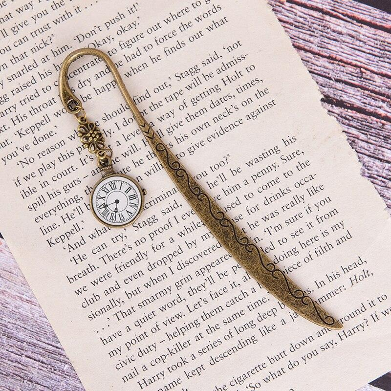 Funny Clock Metal Bookmarks Vintage Retro Tower Book Marker Paper Clips For Kids Gift Stationery Student Gift - Bookmarks