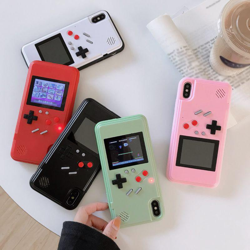 Gameboy Soft Phone Case Cover For iPhone X XR XS Max For iPhone 6 7 8 Plus Color Display 36 Classic Game Console Silicone Cover - Phone Cases