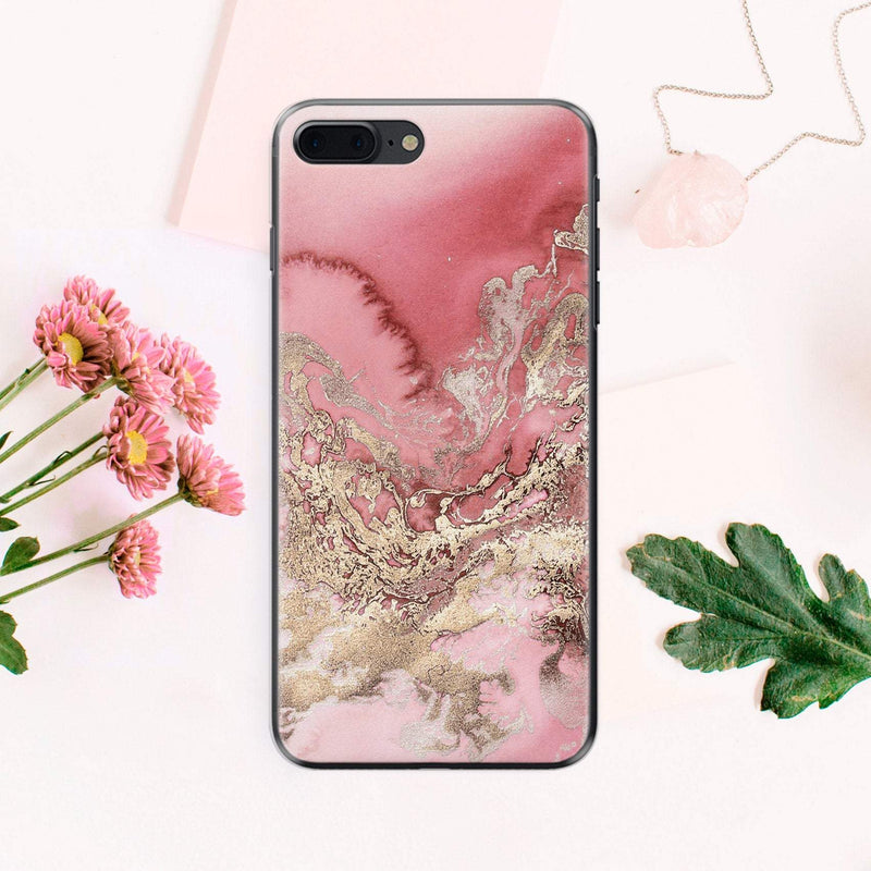 Gold Marble Phone Case Google Pixel 2 XL iPhone X Case iPhone 8 Plus Case iPhone XS Case iPhone XR Case Samsung Galaxy S9 Plus Case CA2184 - Phone Cases