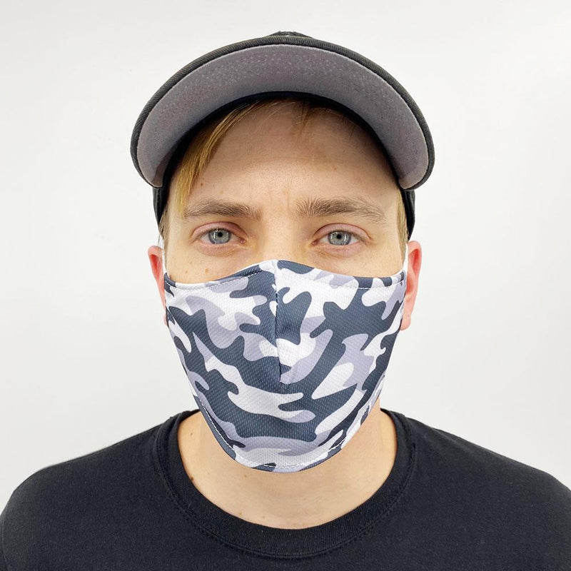 Gray Camo Face Cover, US Face Mask - Face Masks & Coverings