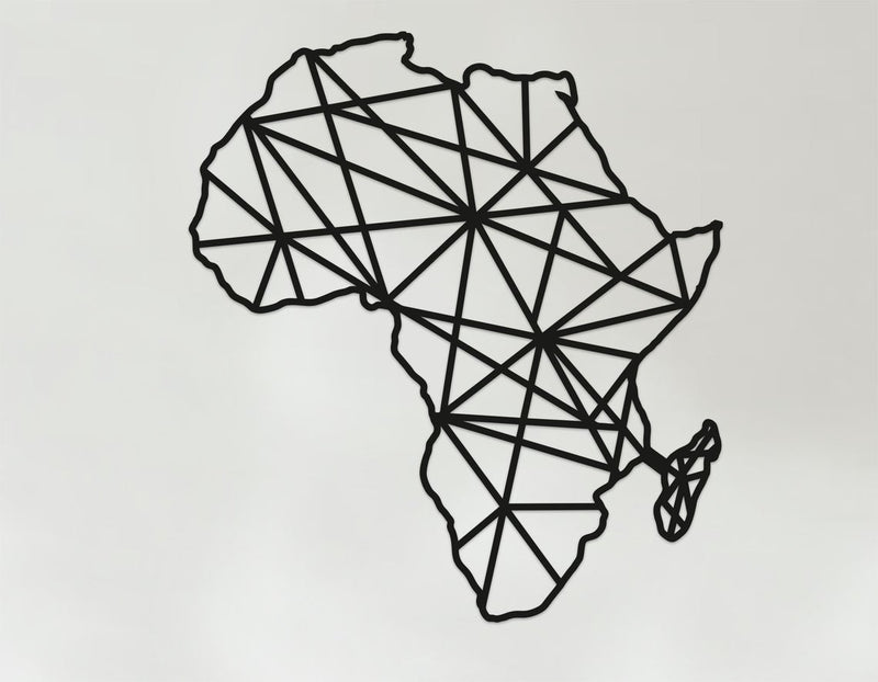 Geometric Africa Art, Wooden Country Wall Art, Africa Gift