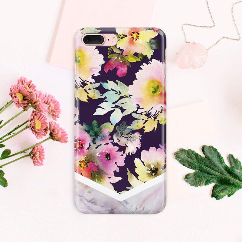 iPhone Floral Full Wrap Print Case iPhone 7 Plus iPhone 8 iPhone 8 Plus iPhone 7 iPhone 6 Plus Samsung S8 Plus Case Samsung S7 Edge CA1402 - EtsySales