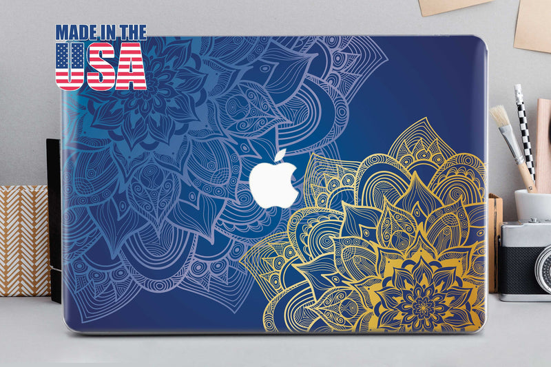 Gold Azure Mandala Macbook Air 11 inch Case Macbook Pro 13 2019 Inch Macbook Stone 15 Macbook Case Pro 15 Pro Retina 15 Cover Macbook CA2015 - EtsySales