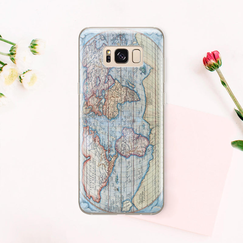Map of the World Note 8 Phone Case Samsung Phone S10 Case Galaxy S9 Plus Case Galaxy S8 Phone Note 7 Case Phone Case for Samsung S6 CA1030 - EtsySales