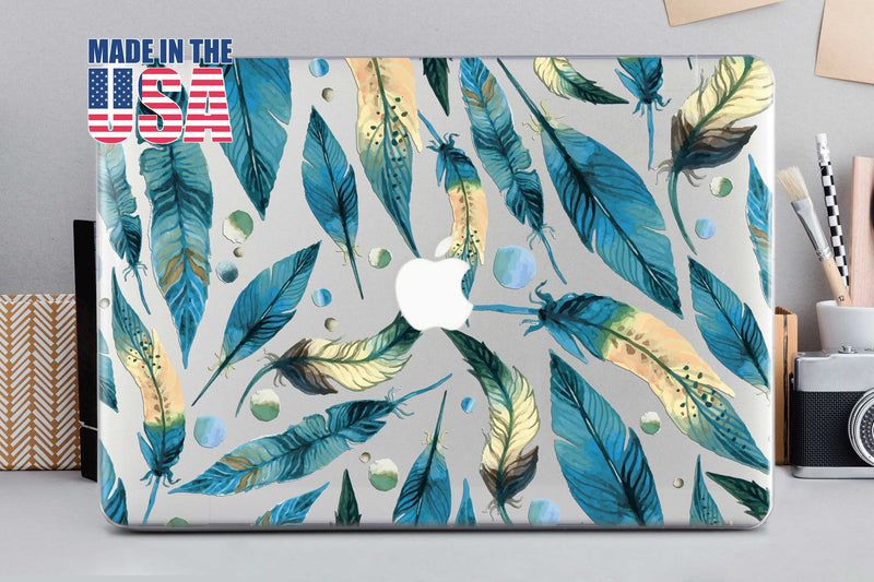 Blue Leaf Macbook Cover Hard Case Macbook Case 12 Cover Macbook Pro 15 2019 Gold Leaf Pro Retina 13 Macbook Air 11 Hard Case Mac CA2024 - EtsySales