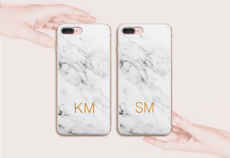 White Monogrammed iPhone 8 Plus Cases for Couples Samsung Note 8 Duo Case iPhone 7 Plus Case Sansung S8 Cover iPhone 6 6S Cover CA1301 - EtsySales