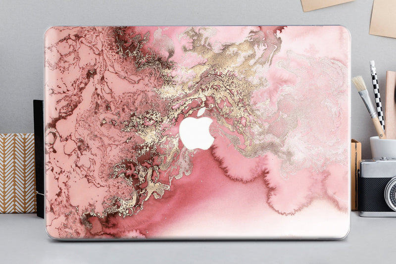 Rose Marble Macbook Air 13 inch Macbook Pro Hard Case 12 Inch 2017 Laptop Cover Macbook  Pink Marble Hard Case Macbook Pro 13 15 Inch CA2175 - EtsySales