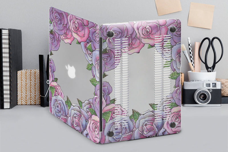 Floral MacBook Hard Case Laptop Case Flowers Macbook Pro Retina 15 2019 Hard Macbook 12 Case Air 13 Tropical Case Macbook Air Case CA2005 - EtsySales