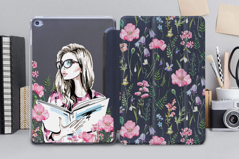 Cute Girl New iPad iPad Pro 10.5 Case iPad Air 4 iPad Pro 12.9 2018 Case Gift For Her Floral iPad Case With Smart Cover iPad Air 3 CA2249 - EtsySales