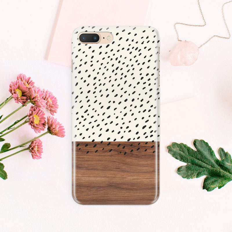 Wood Print iPhone X Case Full Wrap iPhone 8 Plus Case White Hard Plastic Case Black Point iPhone 7 Plus Case iPhone Design Print Case CA1415 - EtsySales