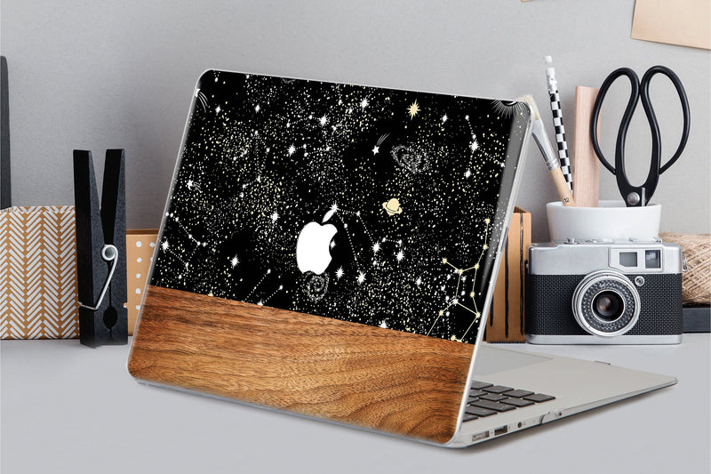 Night Sky Macbook Pro 13 2019 Case Constellation Macbook Pro 13 Cover Laptop Hard Case Wooden Macbook Air 11 Case Pro 15 Mac Cover CA2257 - EtsySales