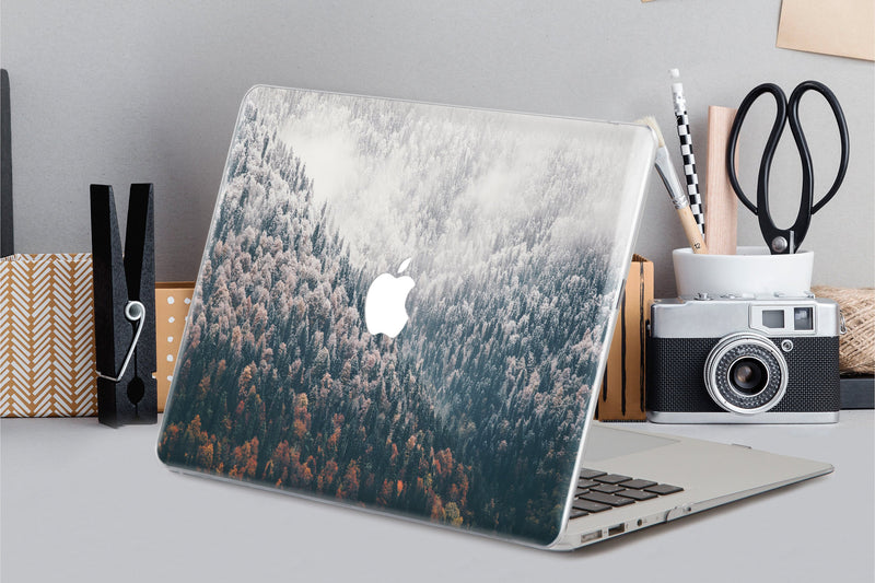 Winter Forest Case For Macbook Pro 13 Cover Macbook Retina 15 Inch Case Snow Forest Around Keyboard Skin Macbook Air 11 Laptop Hard CA2009 - EtsySales
