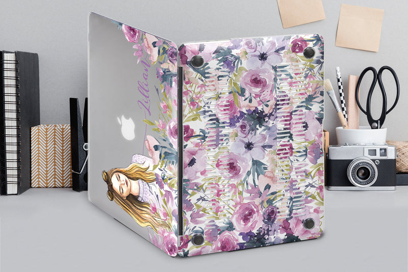 Art Flowers MacBook Air 13 2018 MacBook Pro 13 2019 Case Laptop Case Monogram Pro 15 Hard Case 11 Inch MacBook Cover Air Shell 2017 CA2289 - EtsySales
