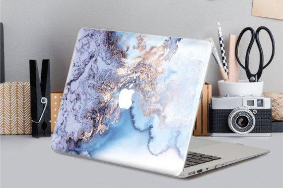 Laptop Cover Marble Macbook Pro 15 2019 inch Macbook Pro Hard Case 12 Inch 2017 Macbook Blue Marble Hard Case Macbook Air 13 Inch CA2018 - EtsySales