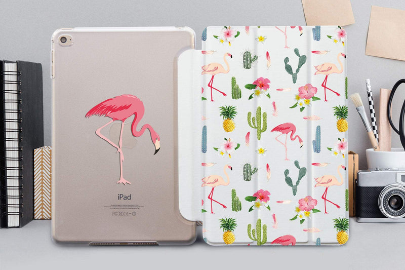 Flamingo Cactus Pattern iPad Air 42017 SmartCover Flamingo iPad Mini 4 Leather SmartCover Case iPad Pro 12.9 2018 Case iPad Air 3 CA4005 - EtsySales