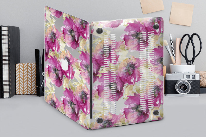Art Poppies Macbook Air 13 inch Stickers Mac Air Macbook Pro 13 15 2018 Macbook Pro Retina 13 15 Decal Macbook Pro Retina 2017 Color CA2059 - EtsySales