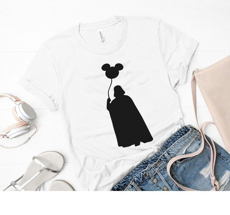 Star Wars Disneyland Mickey Shirt, Disney World, Darth Vader, Mickey Minnie Mouse Balloon, The Force With You, Cute Disney Tee Mickey Ears