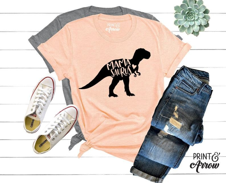 Mamasaurus Shirt - Mama Saurus Tee Shirt - Mother's Day Gift - Dinosaur Mom Shirt - Mama Shirt - Dinosaur Shirt - Gift for mom