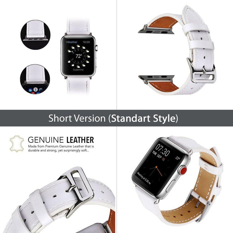Snow Leopard Print Apple Watch 40mm Animal Print Handmade Leather Strap Unisex Cheetah Watch Band Fashion Jewelry Bracelet Vegan Band CA2300 - EtsySales
