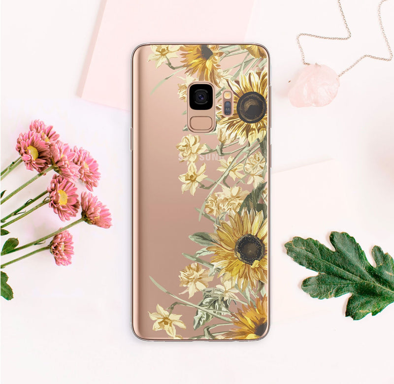 Sunflowers Samsung Galaxy S9 Case Floral Samsung Galaxy S10 Case Samsung S10 Plus Cover For Samsung S7 Edge Case Sunny Galaxy S8 Case CA2264 - EtsySales