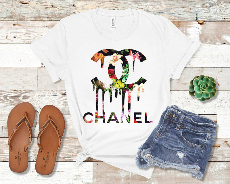 Chanel Floral Shirt Chanel t shirt Gucci Gift Gucci Birthday Gucci Inspired Gucci Shirt Gucci Versace Louis Vuitton Chanel Mom Mama Aunt