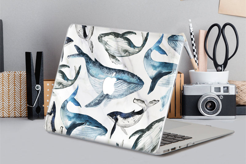 White Marble MacBook Pro 15 2019 Case MacBook Pro 13 2018 Cover Whale MacBook Air 13 Inch 2018 Case MacBook Air 11 Case MacBook 12 CA2357 - EtsySales
